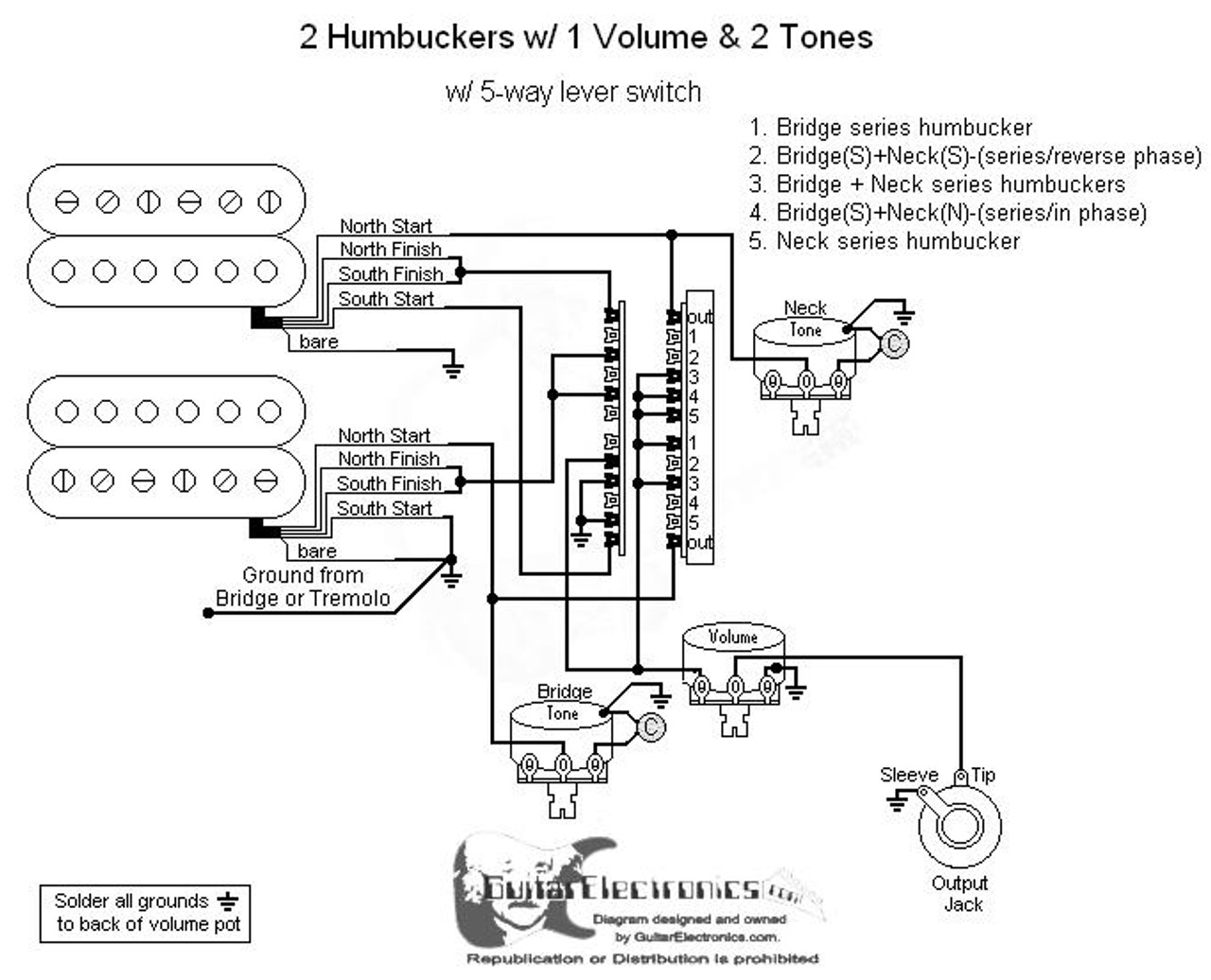 hight resolution of guitar wiring diagram 2 humbuckers 1 volume wiring diagrams terms2 humbuckers 5 way lever switch 1