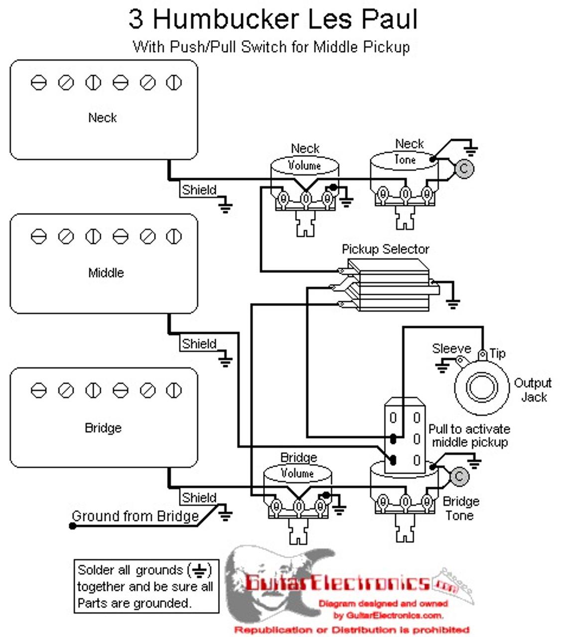 medium resolution of le paul 3 humbucker wiring diagram