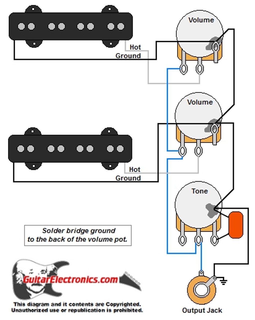 medium resolution of bass guitar wiring diagrams 2 pickups