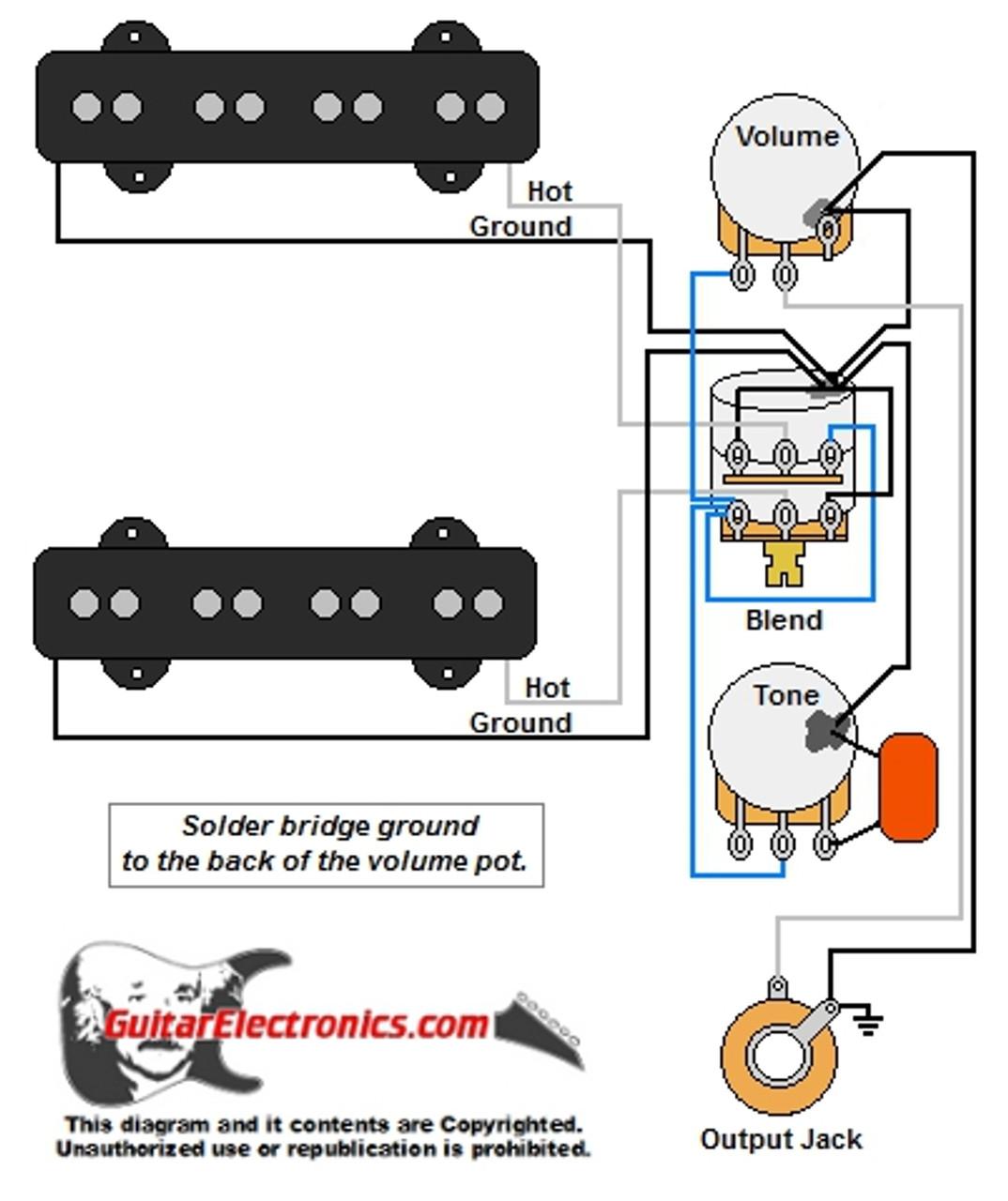 medium resolution of jazz bass w master volume u0026 balance blend control jazz bass wiring diagram