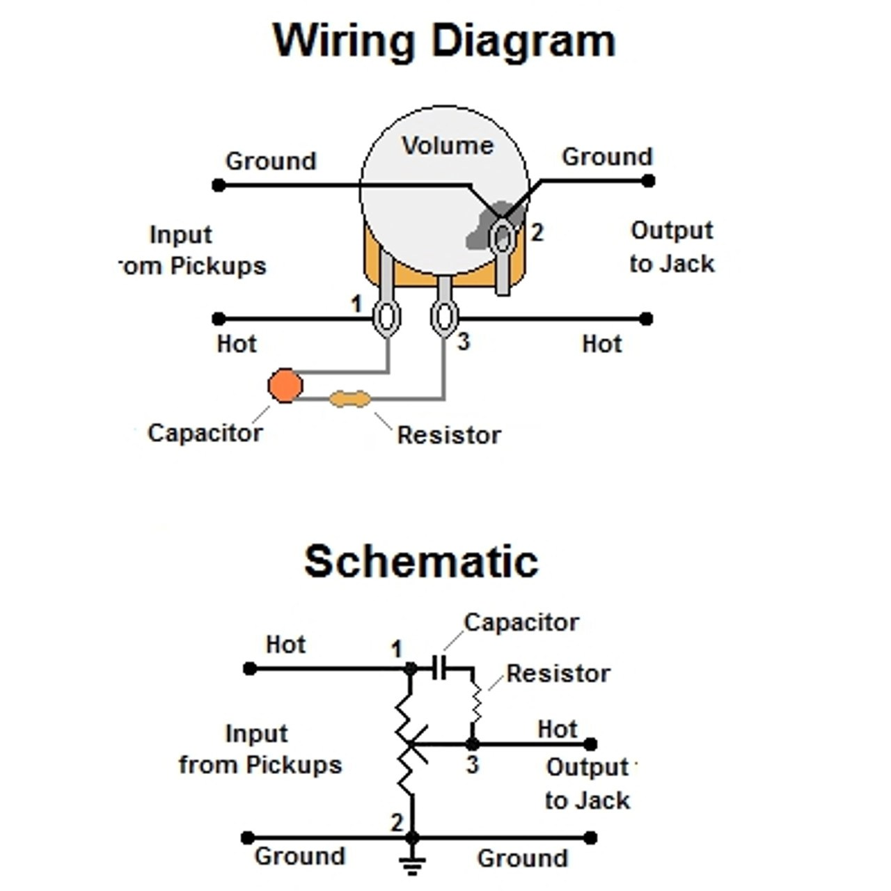 hight resolution of volume treble bleed bypass circuit w series resistor treble bleed les paul wiring treble bleed wiring