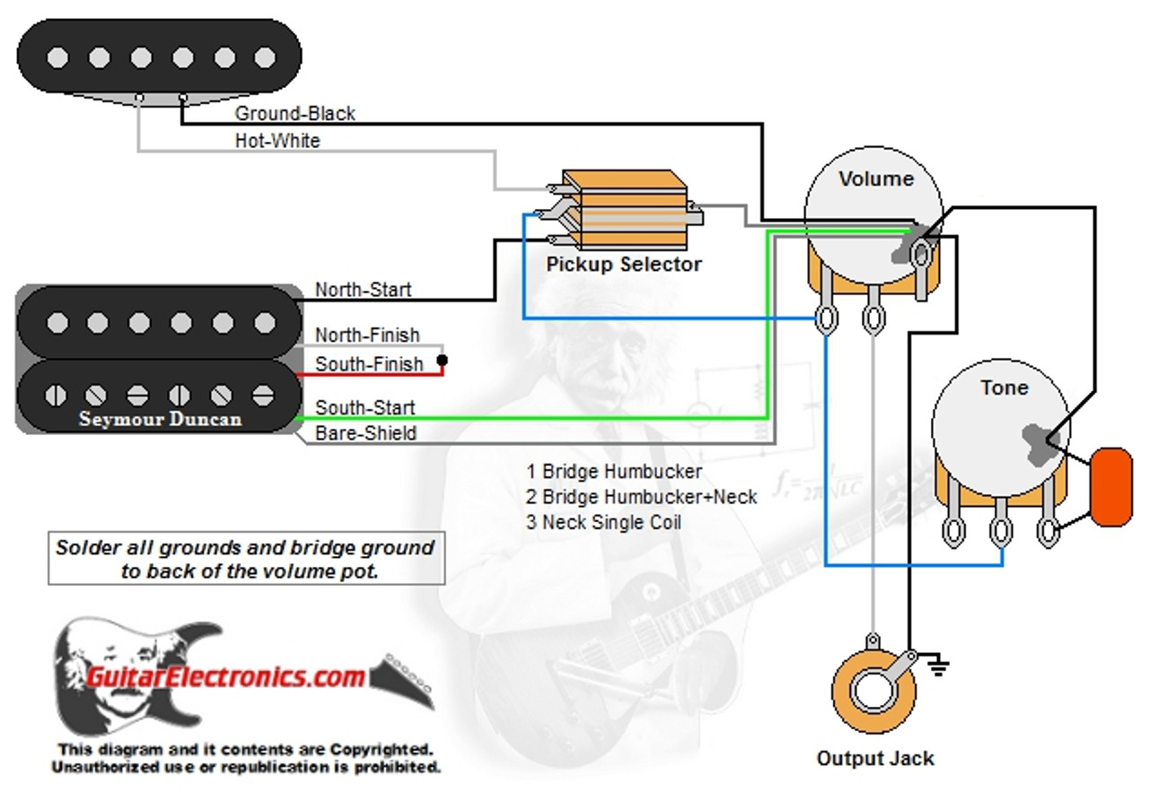 medium resolution of 1 humbucker 1 single coil 3 way toggle switch 1 volume 1 tone 00