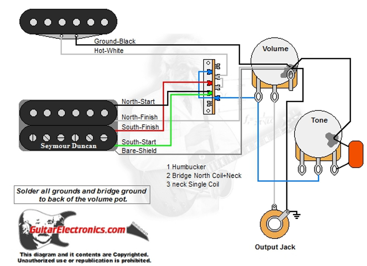 medium resolution of 1 humbucker 1 single coil 3 way lever switch 1 volume 1 tone 021 single coil