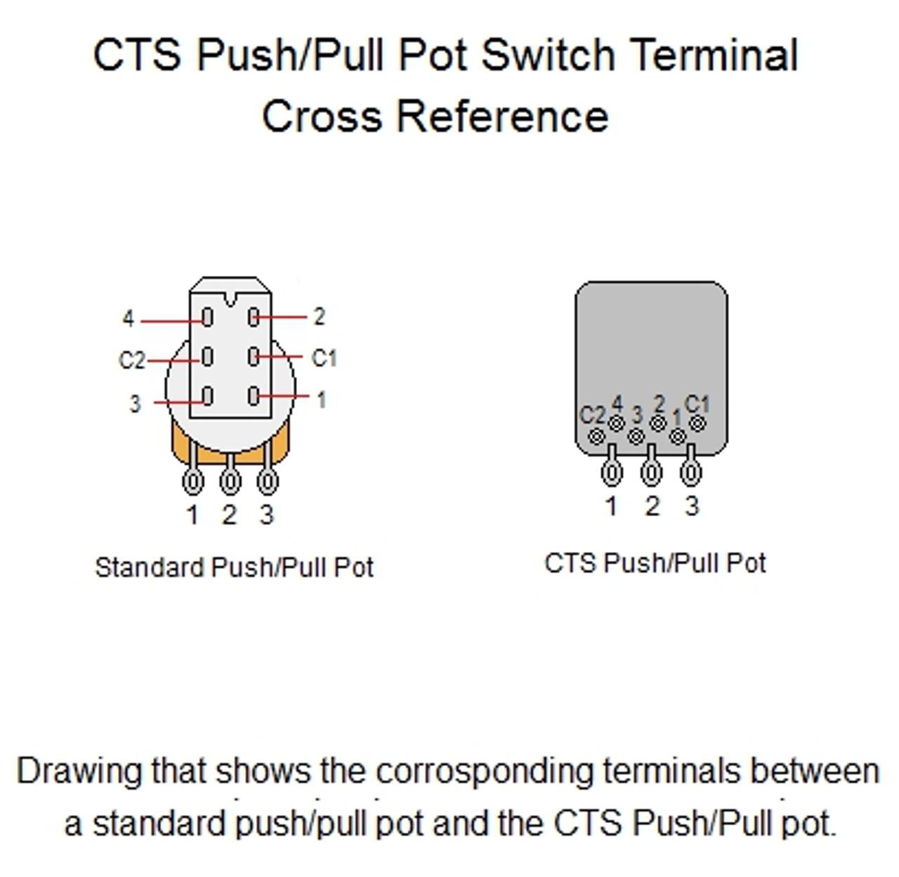 medium resolution of cts 500k audio taper push pull guitar pot cts push pull pot wiring diagram