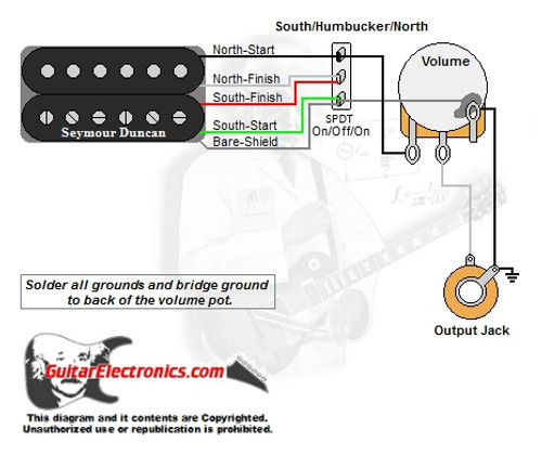 guitar wiring diagrams  1 humbucker/1 volume