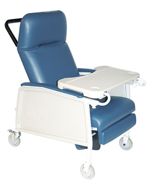 bariatric transport chair 500 lbs pedestal office drive extra wide 3 position recliner d574ew medical capacity