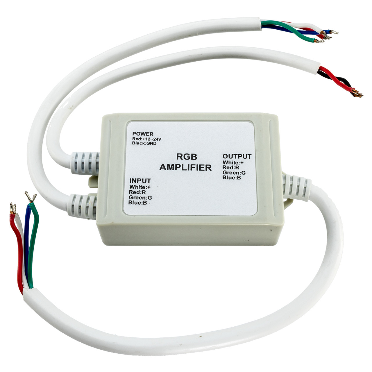 hight resolution of 12 volt rgb led strip light amplifier 12 amp