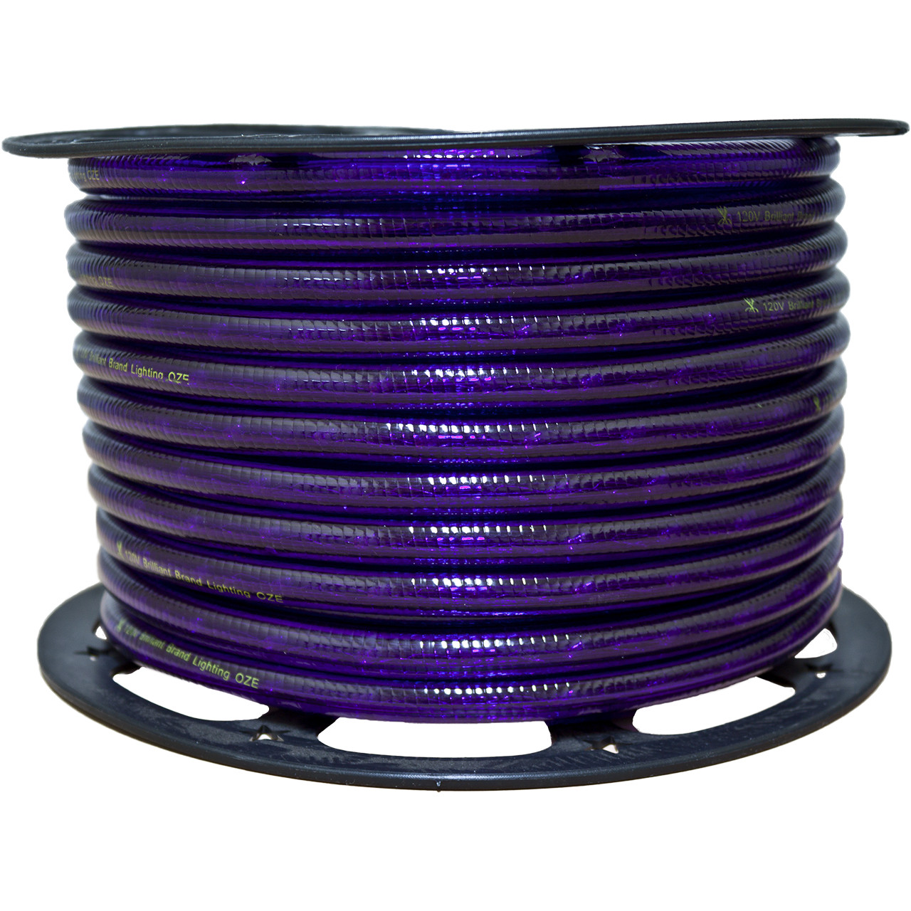 Purple Incandescent Rope Light - 120 Volt 3 8 150 Feet Birddog Lighting
