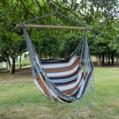 Swing Chair Seat Chairs That Swivel And Recline Lazy Daze Hammocks Canvas Hanging Hammock With Wood Spreader Bar Desert Stripe