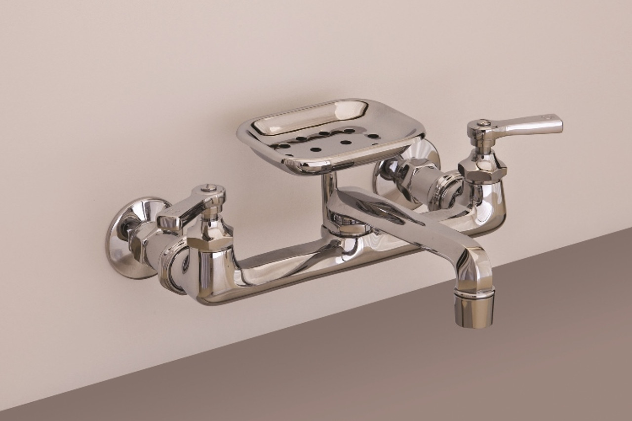 wall mount deco kitchen faucet with soap dish