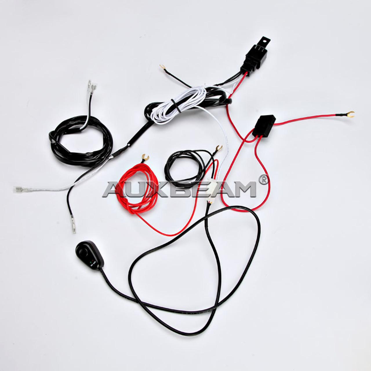 medium resolution of  12v 40a led light bar wiring harness kit dual lights