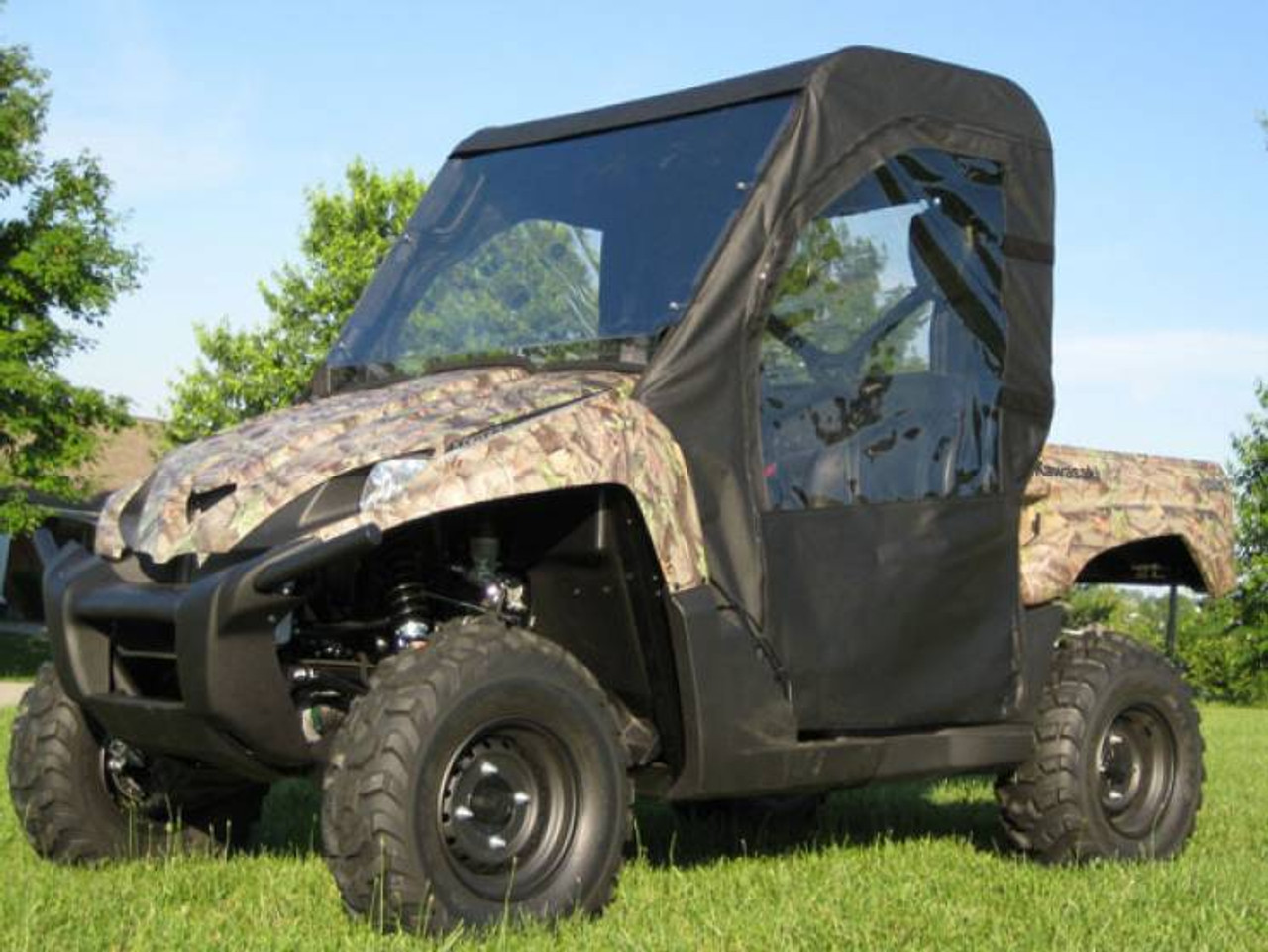 hight resolution of 08 09 kawasaki teryx full cab enclosure with lexan windshield