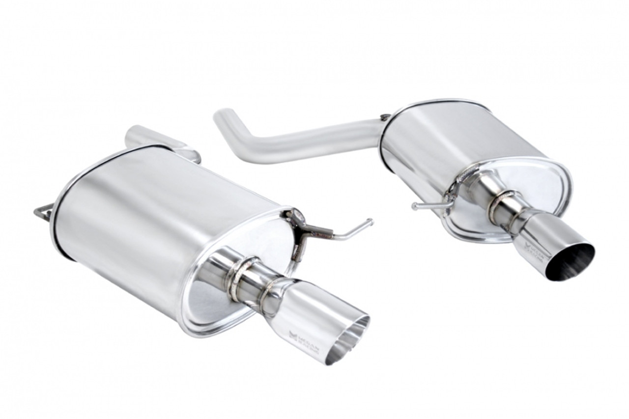 megan racing supremo exhaust bmw f10 5 series 2011 single stainless roll tip