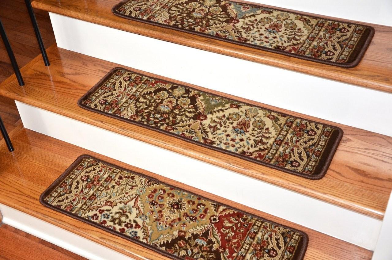 Dean Premium Carpet Stair Treads Panel Kerman Chocolate Rug | Dean Premium Carpet Stair Treads | Bullnose Carpet | Stair Runners | Nylon Carpet | Diy Carpet | Hardwood Stairs
