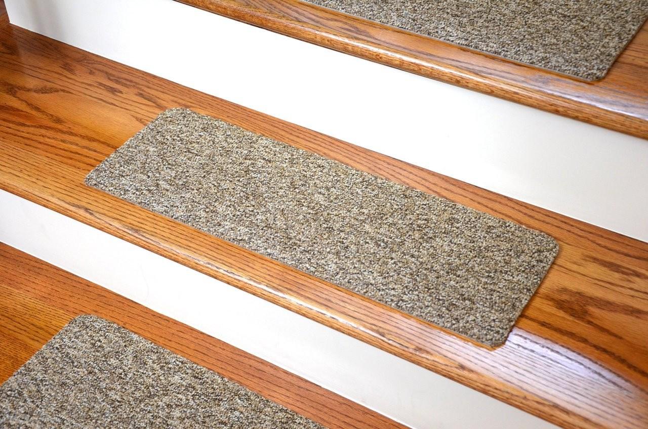 Dean Affordable Diy Carpet Stair Treads 23 X8 13Pc | Dean Flooring Stair Treads | Fiber Sisal | Bullnose Wraparound | Stick Bullnose | Sisal Carpet | Washable Non
