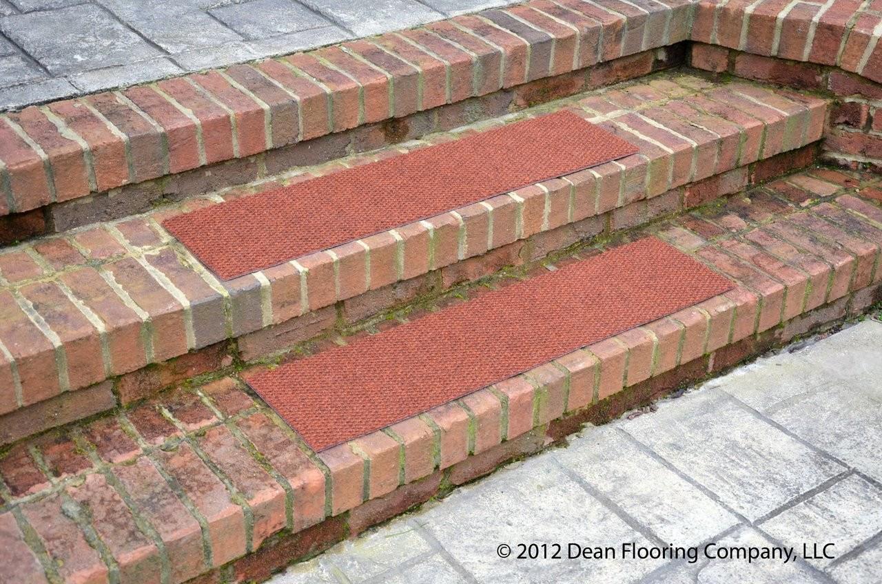 Dean Premium Indoor Outdoor Carpet Non Skid Stair Treads Terra | Indoor Outdoor Carpet Stair Treads | Rug | 26 Inch | Ottomanson Jardin | Walmart | Anti Slip Stair