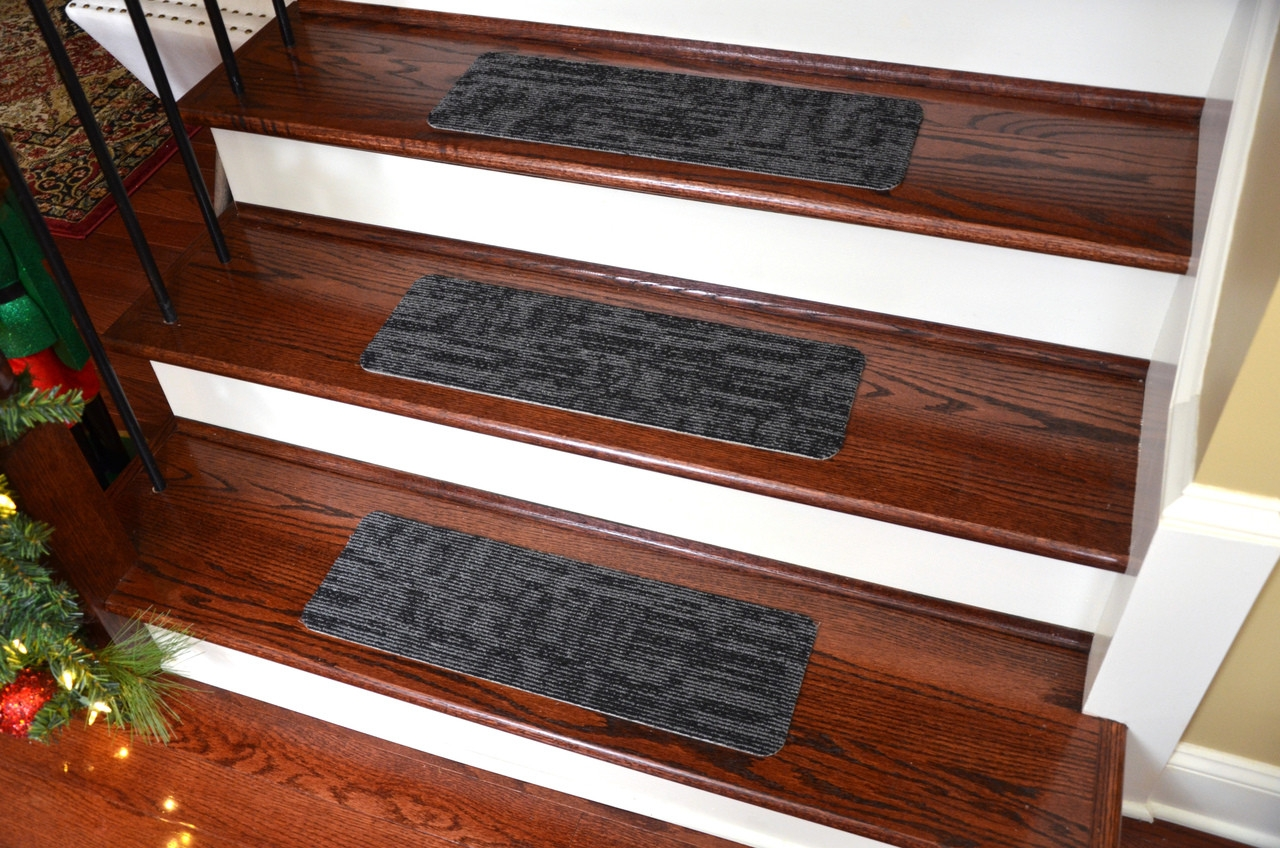 Dean Affordable Non Skid Diy Peel Stick Carpet Stair Treads | Stick On Stair Treads | Step | Unique | Maple Stair | Integrated Post | Solid Weathered