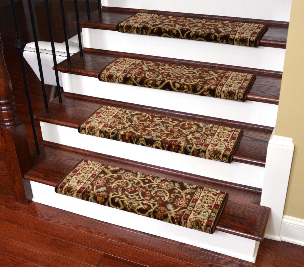 Dean Classic Keshan Bullnose Carpet Stair Treads | Wood Look Vinyl Stair Treads | Shaw Floors | Laminate Flooring | Roppe | Tile | Vinyl Flooring