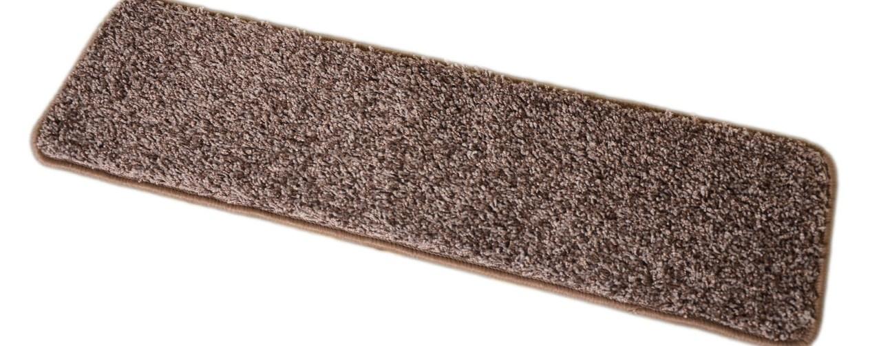 Dean Washable Non Slip Carpet Stair Treads Fresh Coffee Brown | 8 Inch Carpet Stair Treads | Wooden Stairs | Bullnose Carpet | Skid Resistant | Non Skid | Non Slip Stair