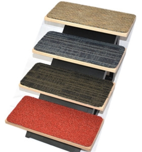 Stair Treads 24 Inch Width And Smaller | Braided Stair Treads With Rubber Backing | Non Slip | Skid Resistant | Anti Slip | Heritage Farms | Slip Resistant
