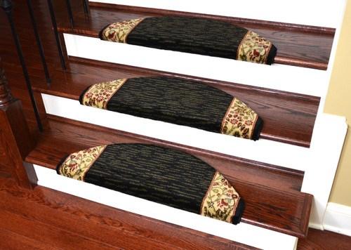 Dean Non Slip Tape Free Pet Friendly Stair Gripper Bullnose Carpet | Half Moon Carpet For Stairs | True Bullnose | Stair Tread | Stain | Stair Nosing | Runner Rugs