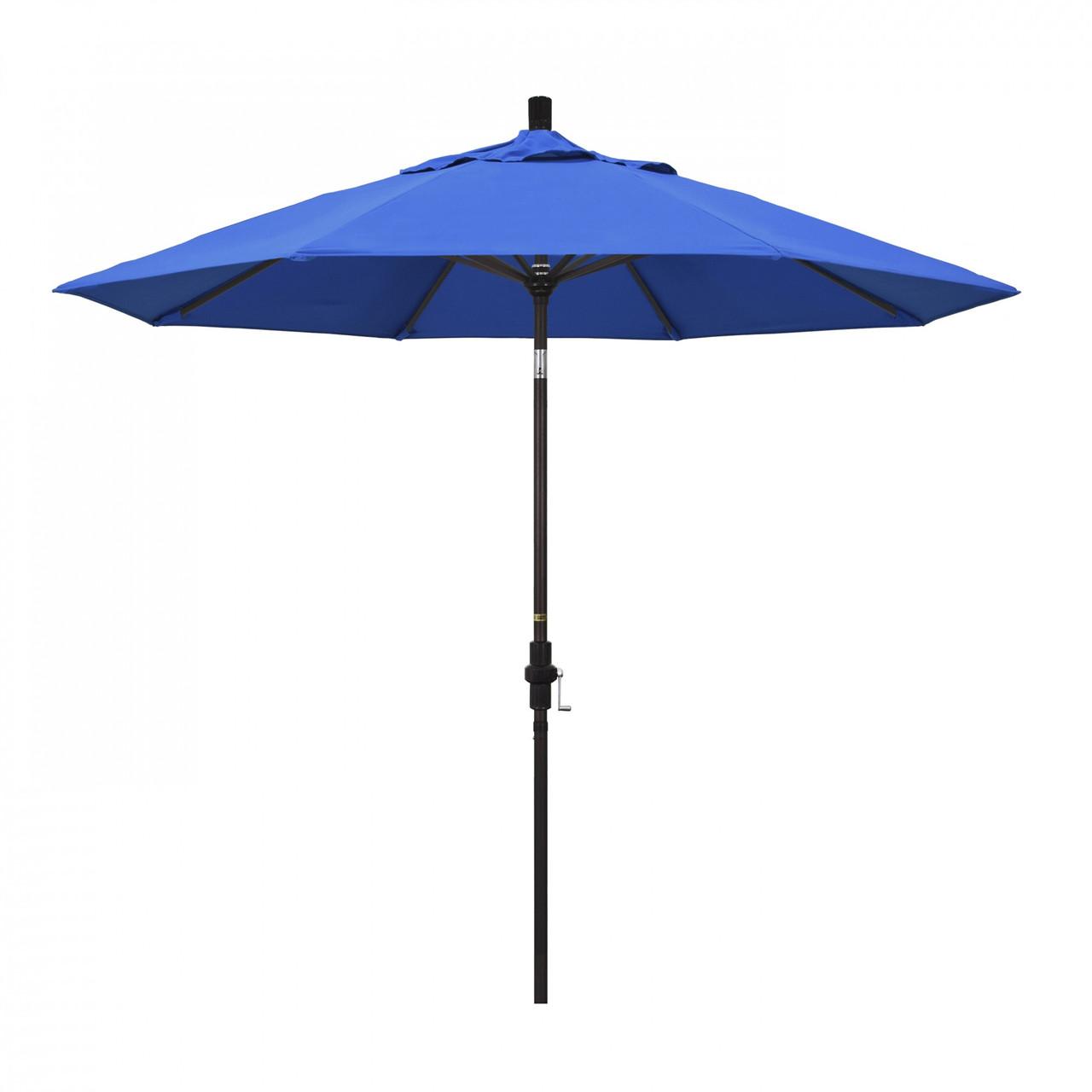 california umbrella 9 ft golden state series patio umbrella with bronze aluminum pole