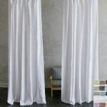 Custom Curtains Linen Curtain Panels White Grey Cream Pink Blue Stripe Chevron 40 Colors Custom Size Custom Made