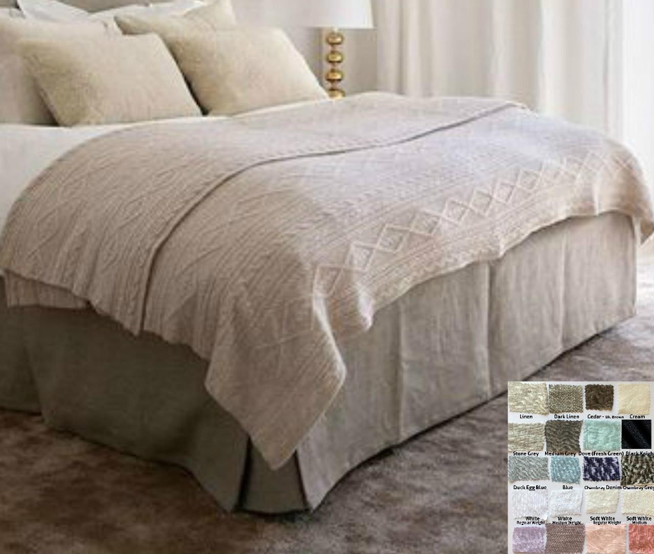 linen bed skirts