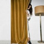 Pair Of Velvet Curtains In Honey Gold Custom Curtains