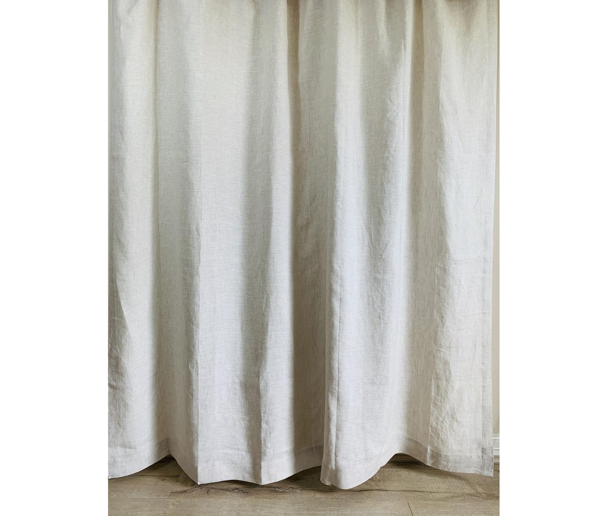 natural linen shower curtain undyed linen