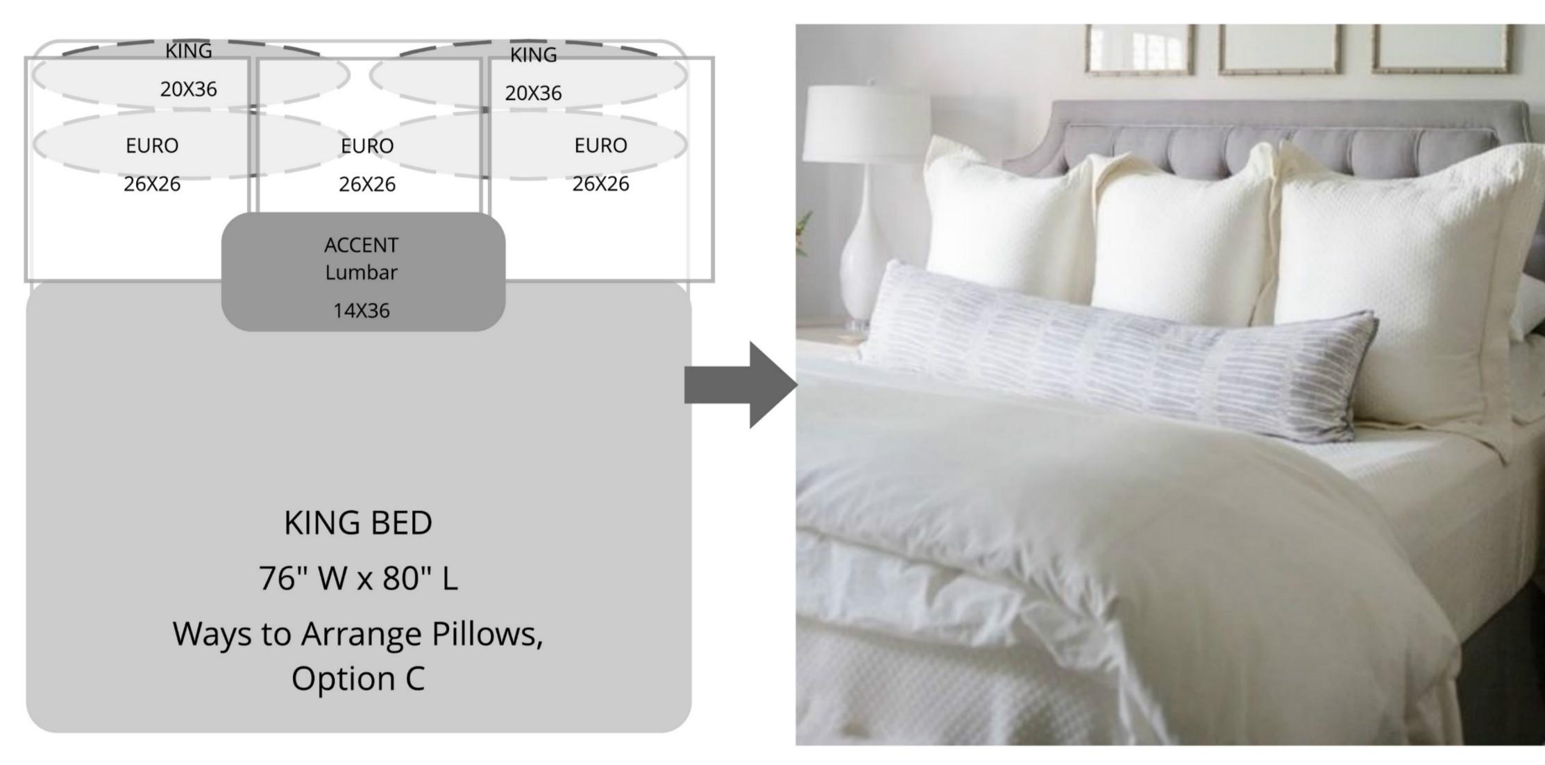 ways to arrange bed pillows superior