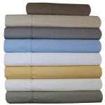 650 Thread Count Solid Cotton Blend 22 Inch Super Deep Pocket Sheet Set Bedding Home Garden
