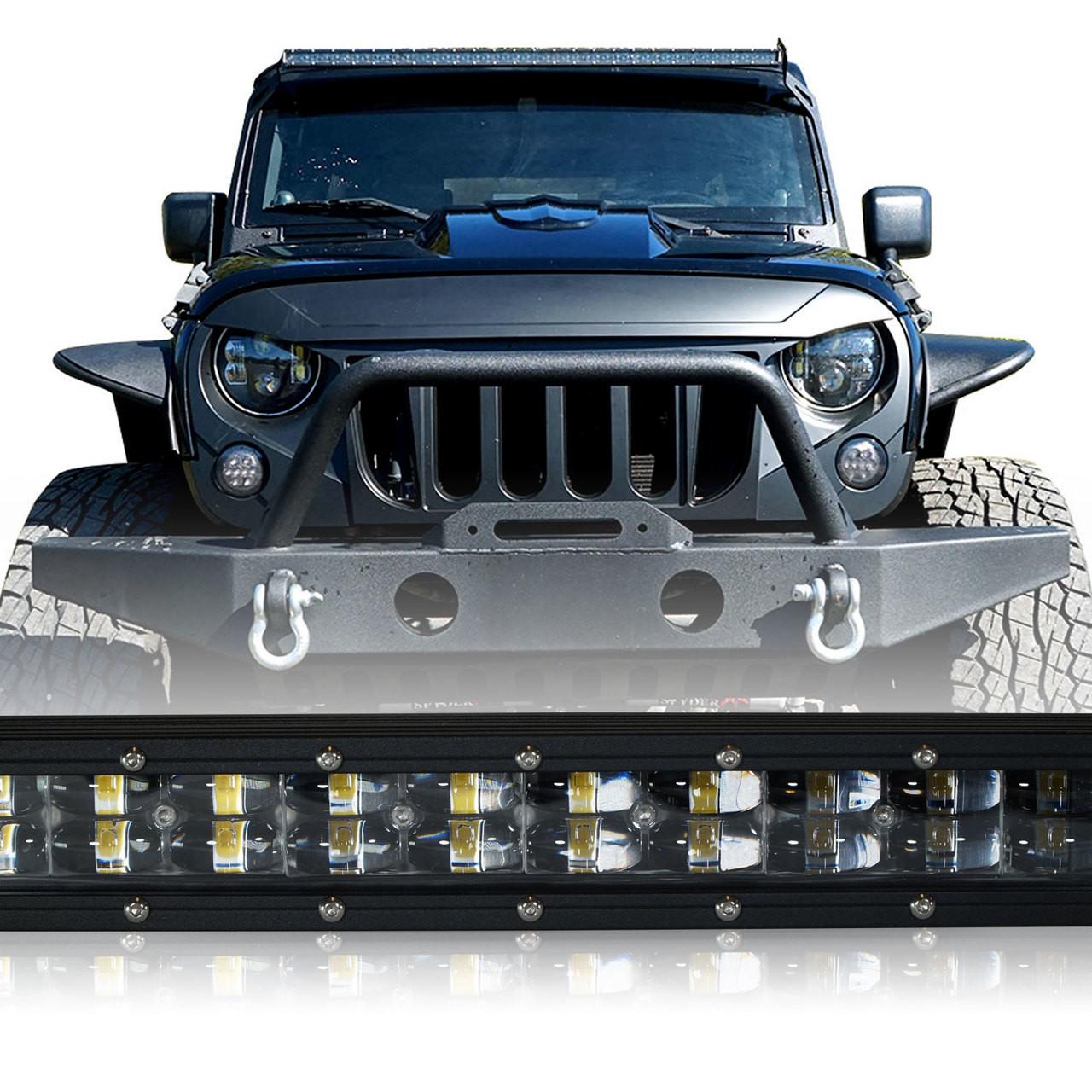 hight resolution of led light bar 288w 50 inches bracket wiring harness kit for wrangler jk 2007 2017