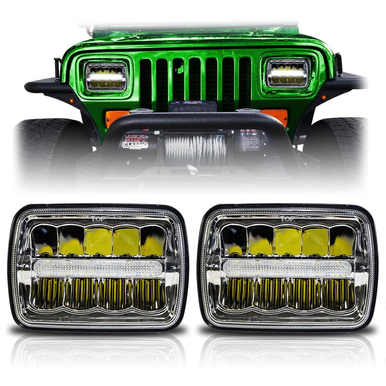 hight resolution of fits yj and xj cherokee headlights