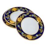 Italian Ceramic Dinner Plates Positano Blue Fratelli Mari