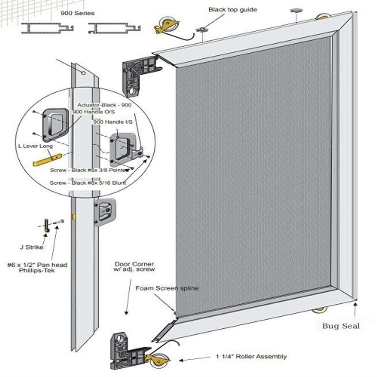wholesale sliding screen door un assembled