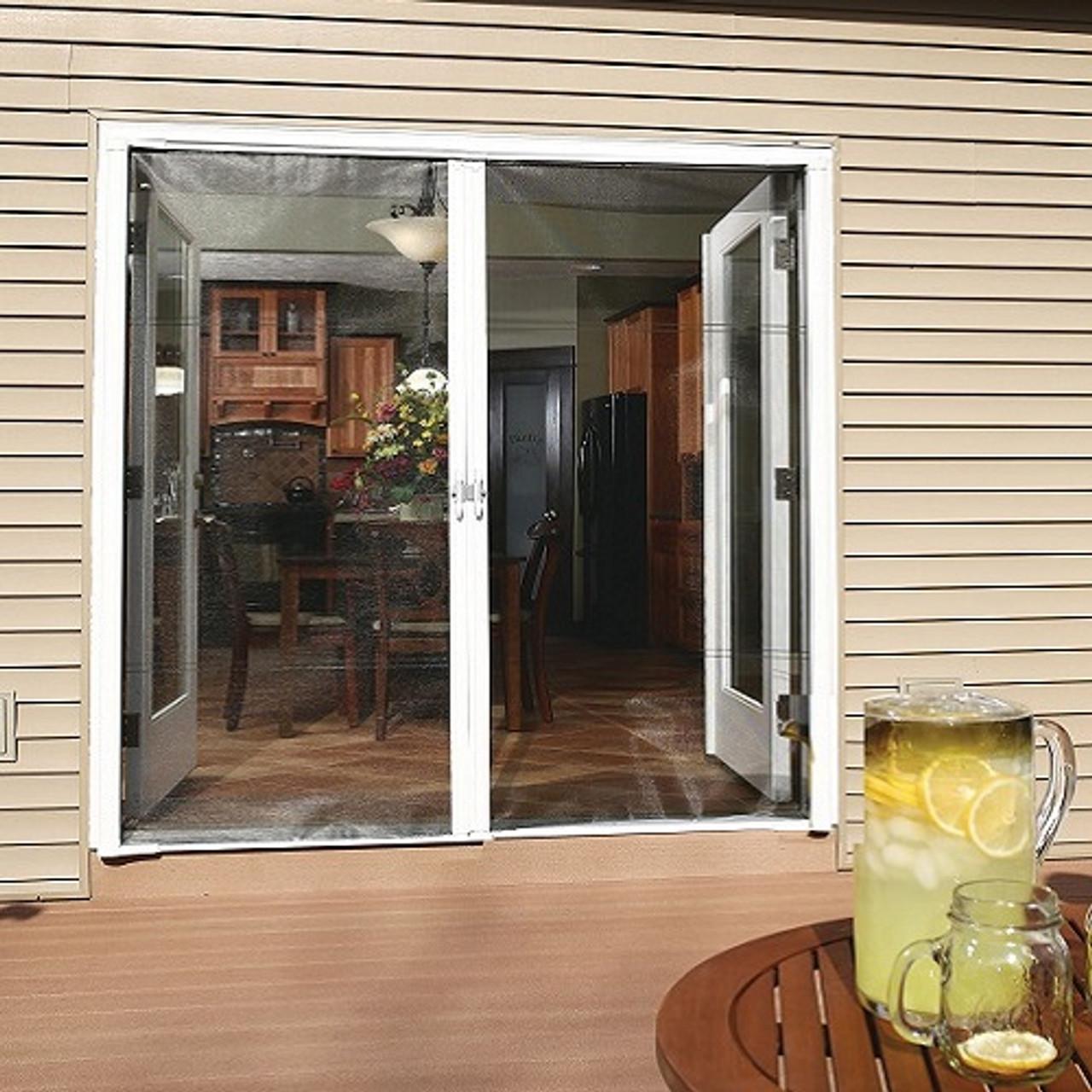 genius cool retractable screen door for double door