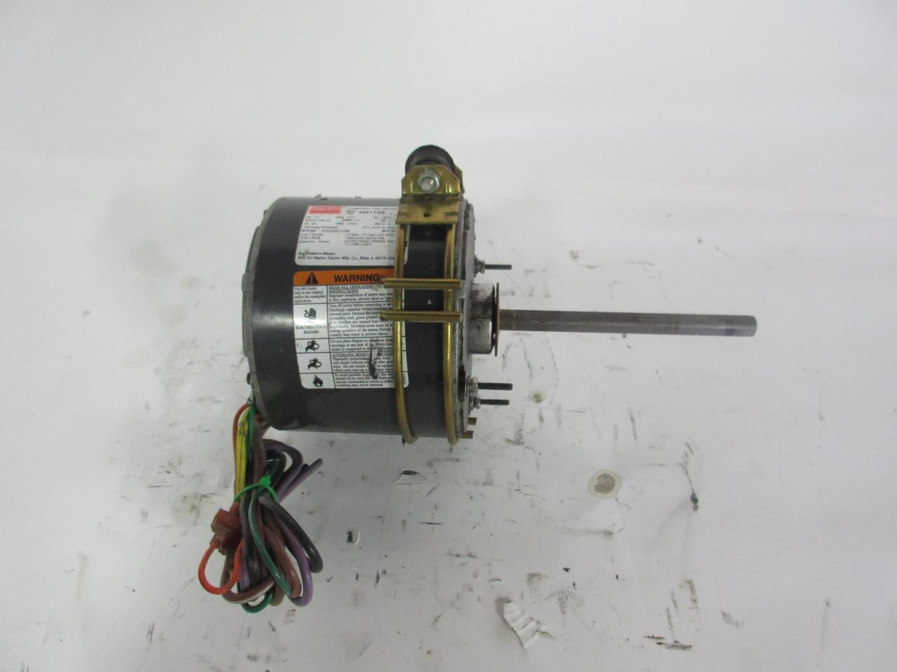 medium resolution of dayton 4m173a 1 3 hp ac condenser fan motor frame 48yz