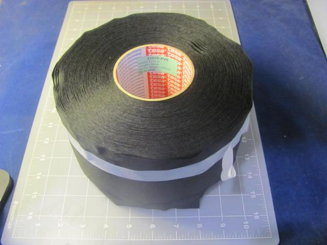 small resolution of case of 4 tesa 51026 pv6 115mm acrylic black pet cloth wire harness tape 4 5 in