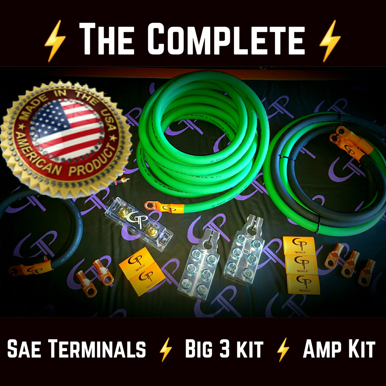 hight resolution of the complete 1 0 awg stage 1 wiring kit gp car audio boss 16 pin wiring