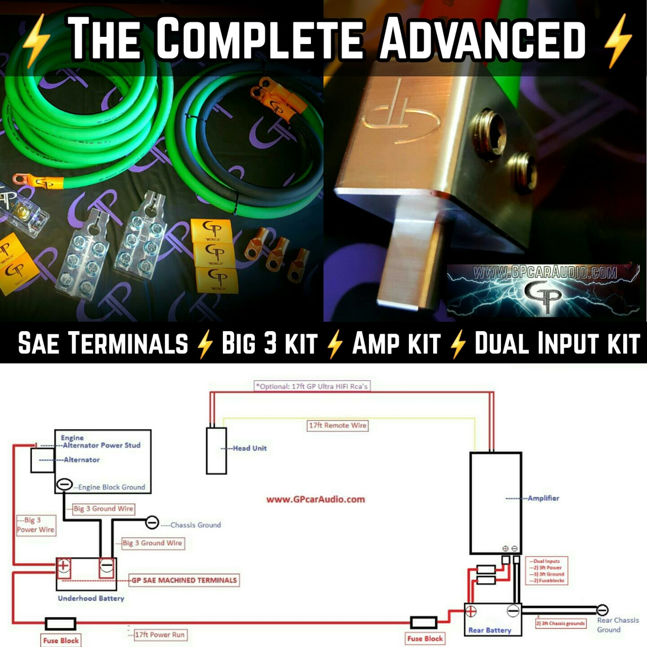 the complete advanced 2 0 awg stage 2 wiring kit [ 1280 x 1280 Pixel ]
