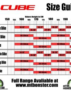 Cube bikes size guide also what frame do  need rh mtbmonster