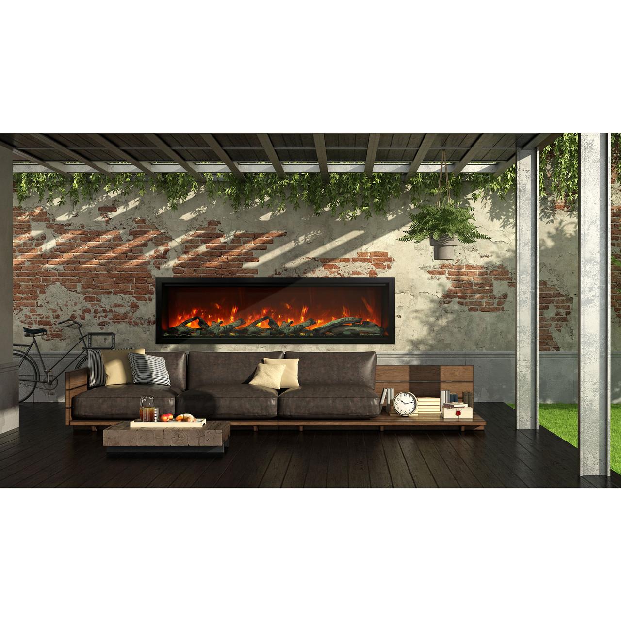 74 symmetry xt series linear electric fireplace amantii