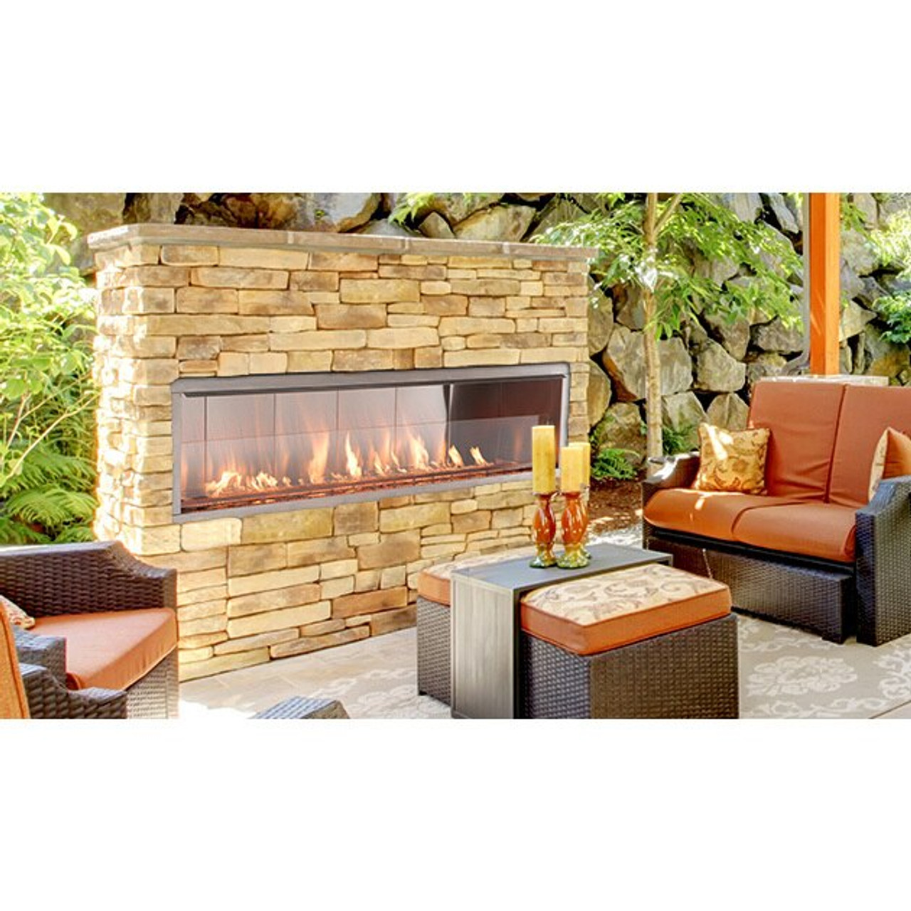 60 outdoor vent free linear gas fireplace superior fireplaces vre4600 series