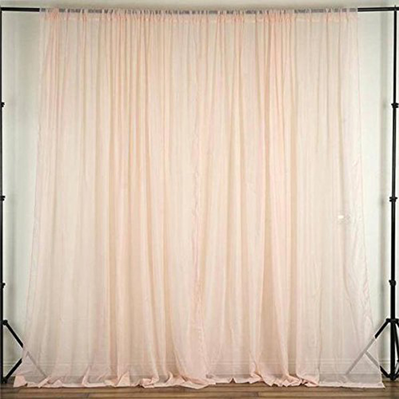 blush 120 wide 10ft wide sheer voile drape panels select from 6ft to 50ft length