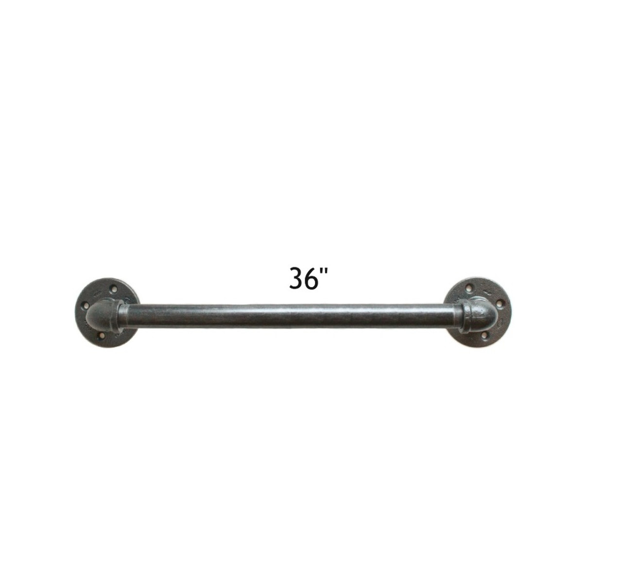 hight resolution of 36 black pipe grab bar for bathroom