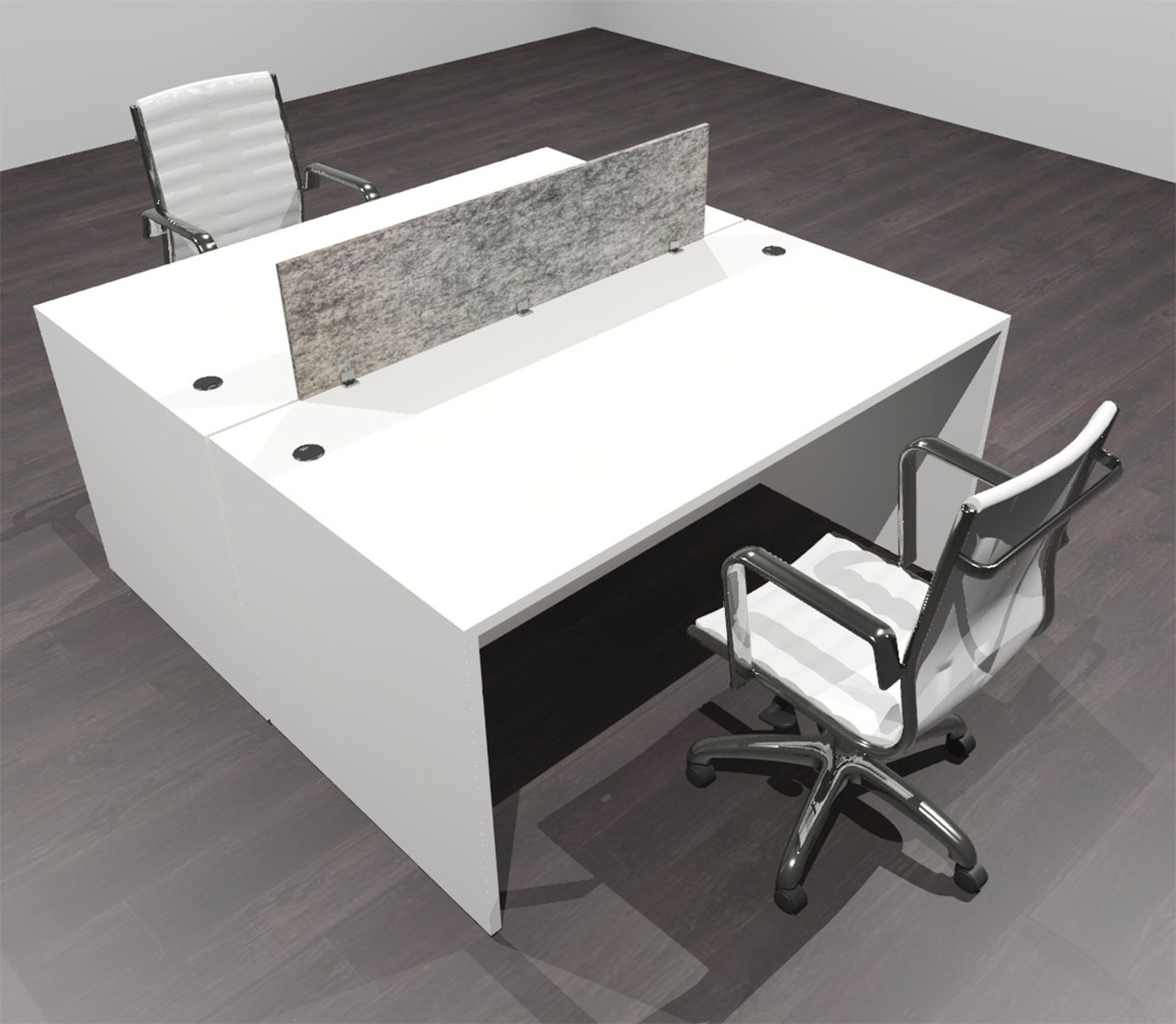 Two Person Modern Accountic Divider Office Workatation Desk Set Of Cpn Fprg1 Color4office