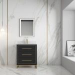 Alma Barsalona 30 Bathroom Vanity Dawn Grey Golden Brass Hardware Alma Premium Vanities