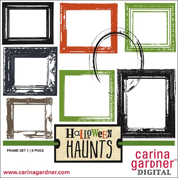 halloween haunting frame