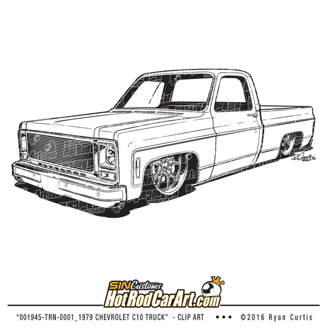 1979 chevrolet c10 pickup clip art illustration [ 1280 x 1280 Pixel ]